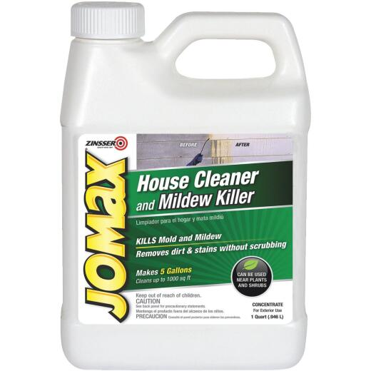Zinsser Jomax House Cleaner and Mildew Killer, 1 Qt.