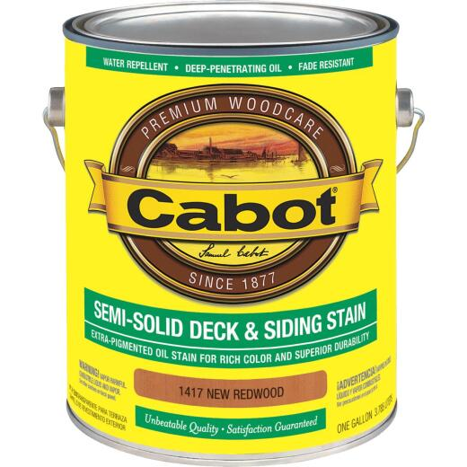 Cabot Semi-Solid Deck & Siding Stain, New Redwood, 1 Gal.