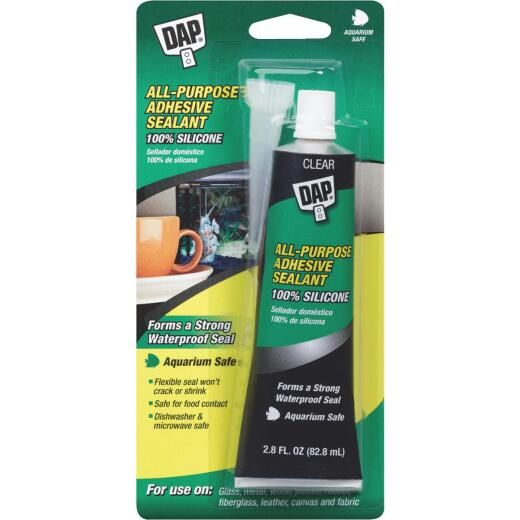 DAP 2.8 Oz. All-Purpose 100% Silicone Adhesive Sealant, Clear