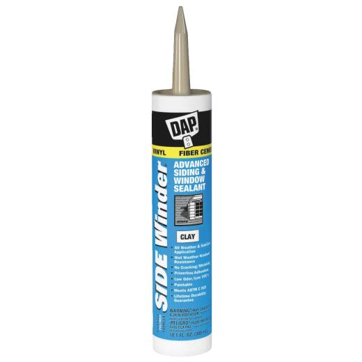 DAP Side Winder 10.1 Oz. Advanced Siding & Window Polymer Sealant, Clay