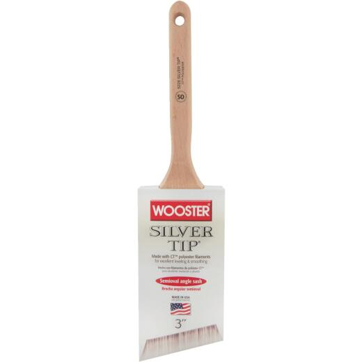 Wooster Silver Tip 3 In. Semi-Oval Angle Sash Brush