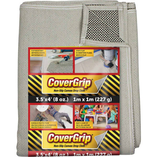CoverGrip 3.5 Ft. x 4 Ft. 8 Oz. Non-Slip Safety Drop Cloth
