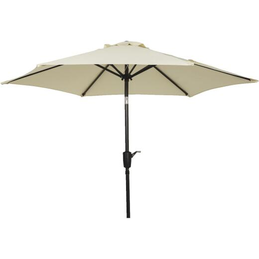 Outdoor Expressions 7.5 Ft. Aluminum Tilt/Crank Cream Patio Umbrella