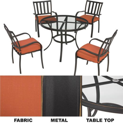 Kingston 5-Piece Dining Set with Cushions