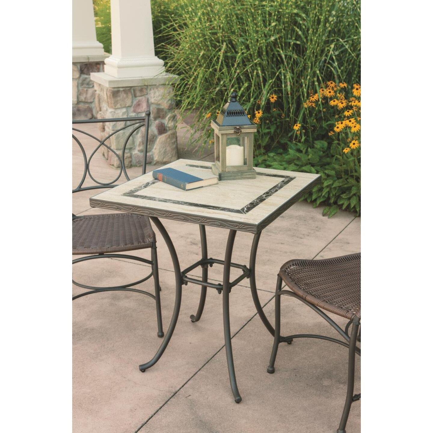 Florence 3-Piece Bistro Set with Wicker Seats Image 9