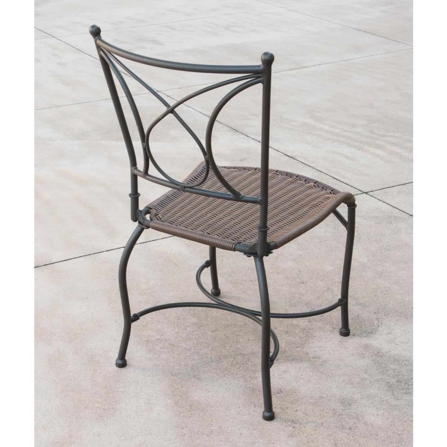Florence 3-Piece Bistro Set with Wicker Seats Image 10