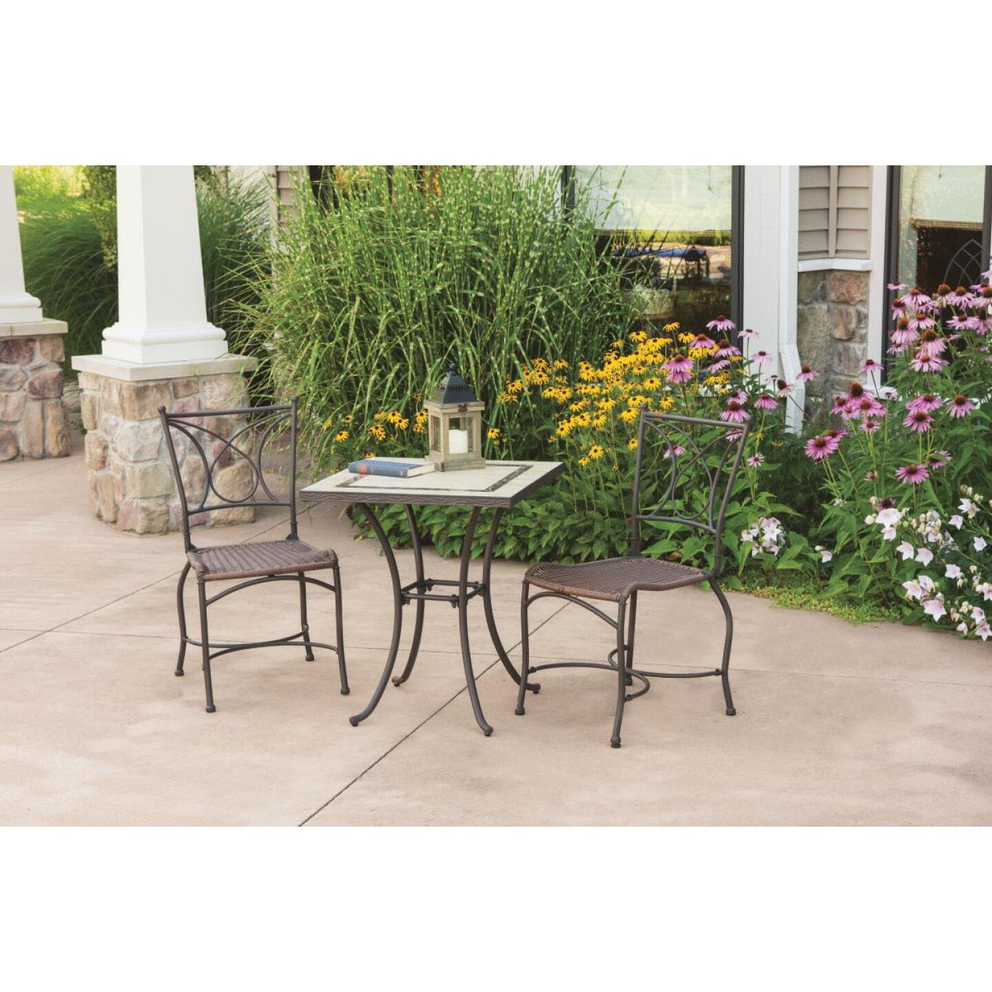 Florence 3-Piece Bistro Set with Wicker Seats Image 11