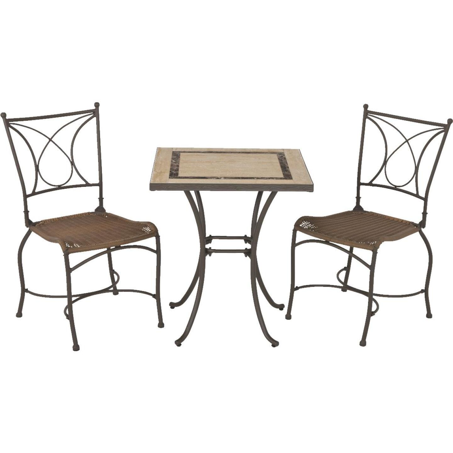 Florence 3-Piece Bistro Set with Wicker Seats Image 12