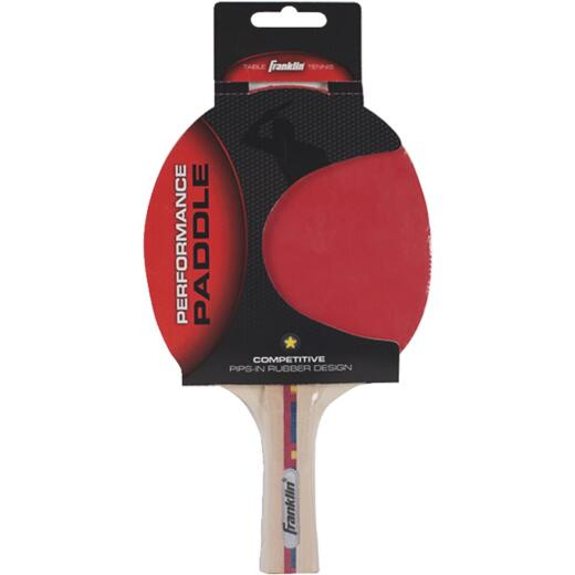 Franklin Flared Handle Rubber Face Table Tennis Paddle