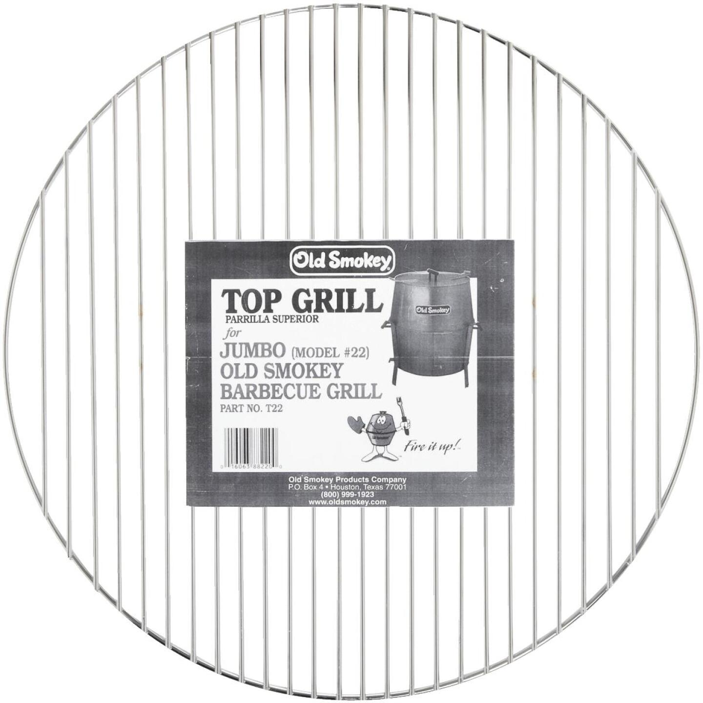 Old Smokey 22 In. Dia. Aluminized Steel Top Grill Grate Image 2