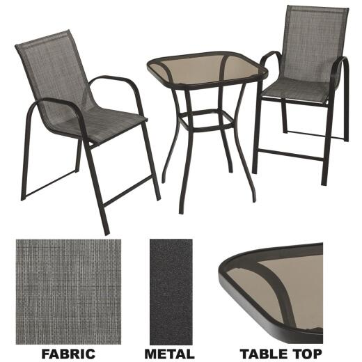 Outdoor Expressions Louis 3-Piece Bistro Set