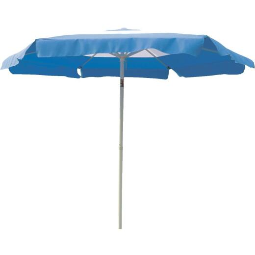 Outdoor Expressions 7.5 Ft. Push-Up Blue Patio Umbrella