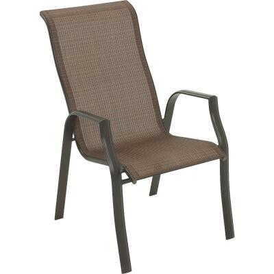 Outdoor Expressions Orleans Brown Steel Stackable Chair