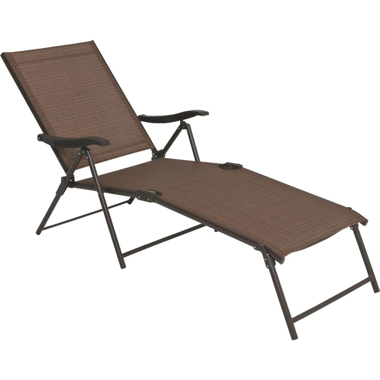 Outdoor Expressions Orleans Brown Folding Chaise Lounge Image 4