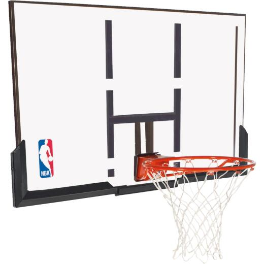 Spalding 52 In. Basketball Backboard And Rim Goal Combo