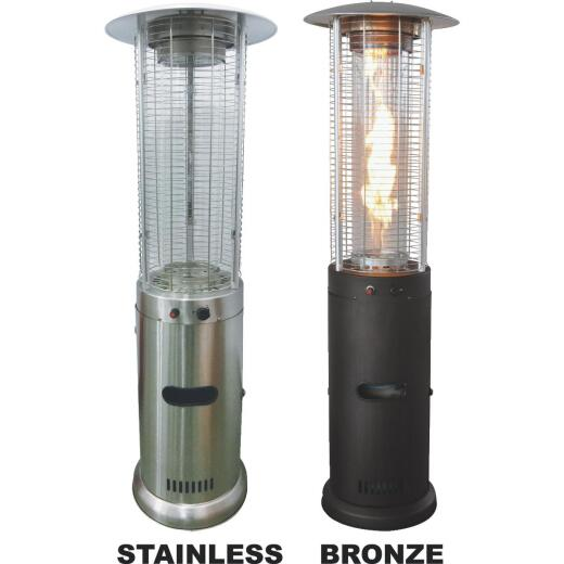 Bond 46,000-BTU Stainless Steel or Bronze Powder Coat Rapid Induction Gas Patio Heater