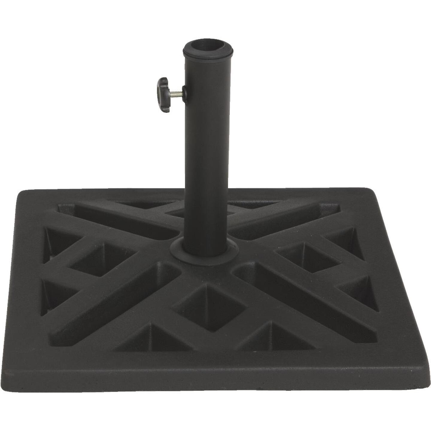 Outdoor Expressions 17 In. Square Black Polyresin Umbrella Base Image 1
