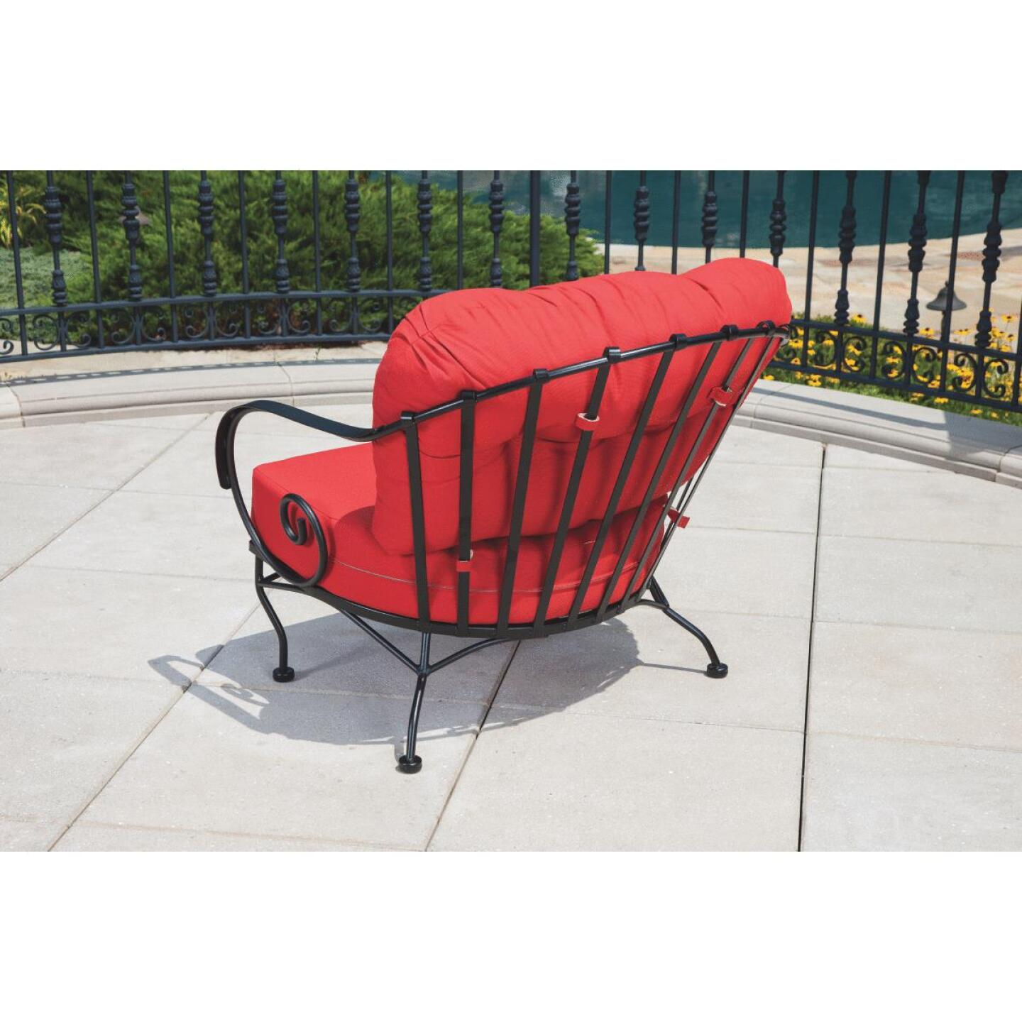 Brantley 3-Piece Steel Chat Set with Red Cushions Image 3
