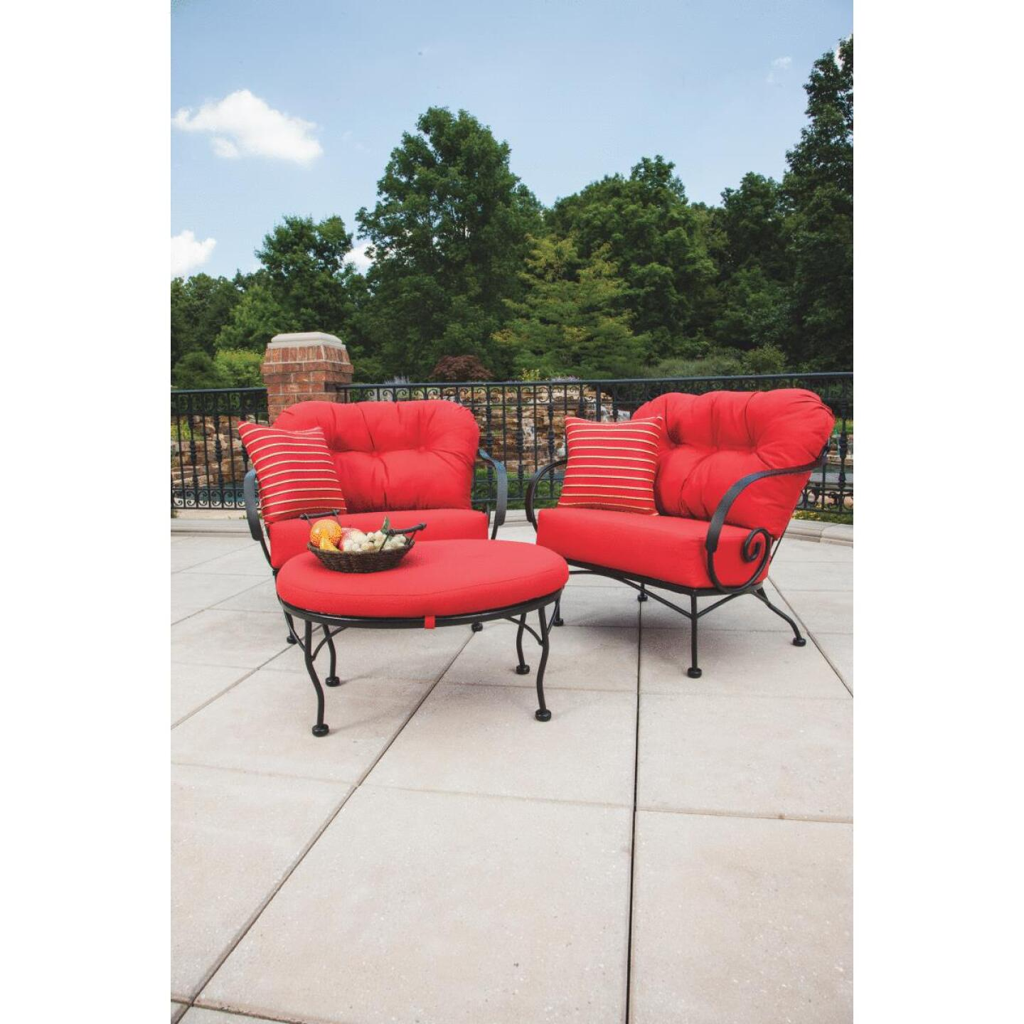 Brantley 3-Piece Steel Chat Set with Red Cushions Image 7