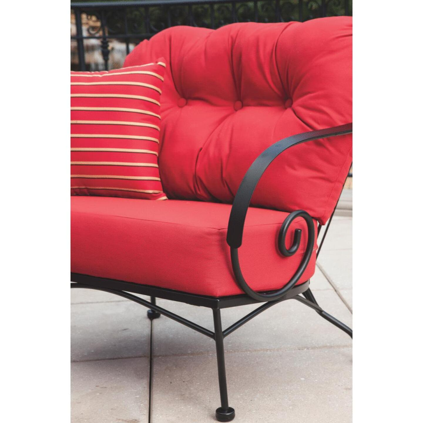 Brantley 3-Piece Steel Chat Set with Red Cushions Image 8
