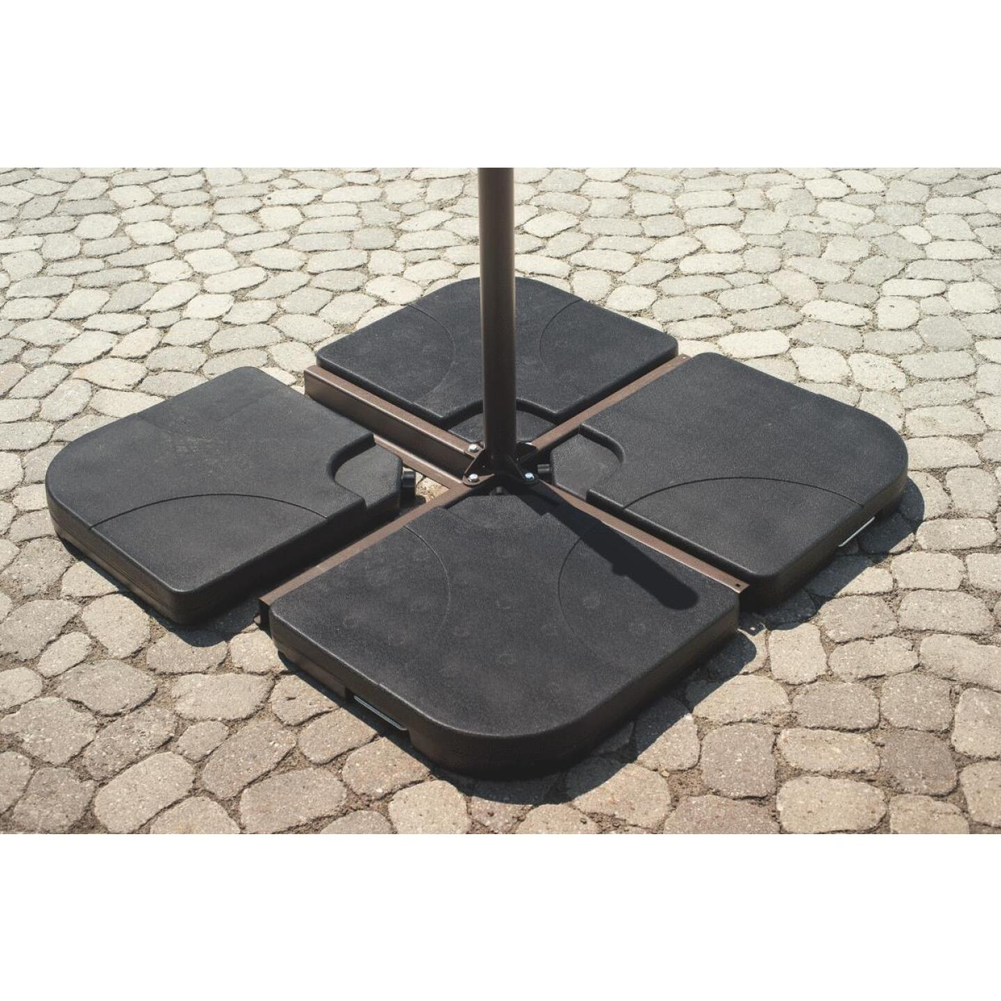 Outdoor Expressions 40 In. Square Black Plastic Umbrella Base (4-Piece) Image 3