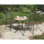 Outdoor Expressions Santorini 3-Piece Bistro Set with Wicker Seats Image 4