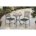 Outdoor Expressions Santorini 3-Piece Bistro Set with Wicker Seats Image 12