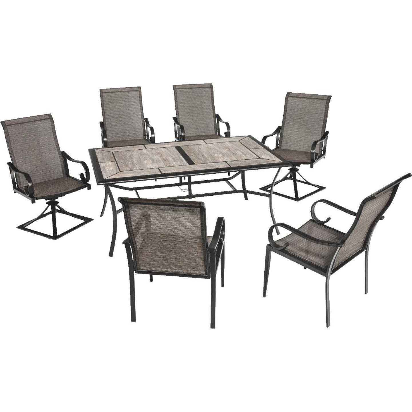 Outdoor Expressions Berkshire 7-Piece Dining Set Image 360