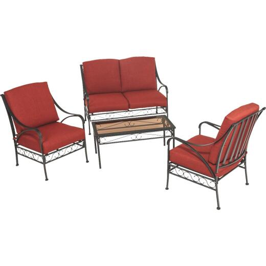 Outdoor Expressions Vienna 4-Piece Chat Set