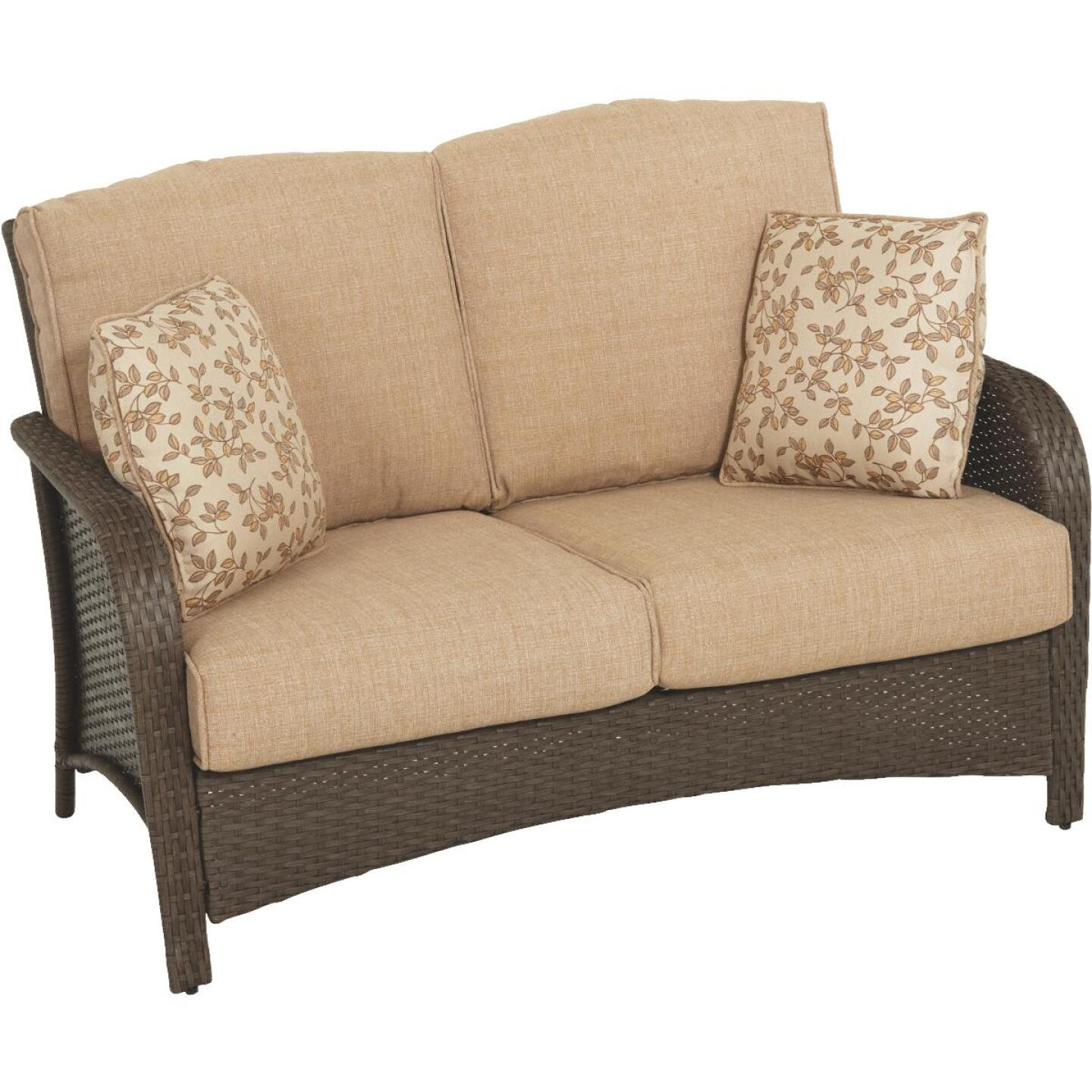 Pacific Casual Tiara Garden 2-Person Love Seat with Coffee Table Image 6