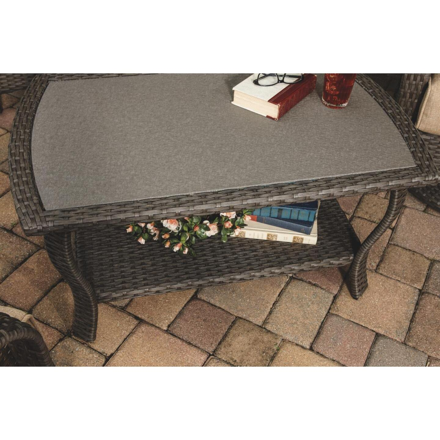 Pacific Casual Tiara Garden 2-Person Love Seat with Coffee Table Image 14