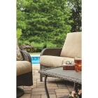Pacific Casual Tiara Garden 2-Person Love Seat with Coffee Table Image 15