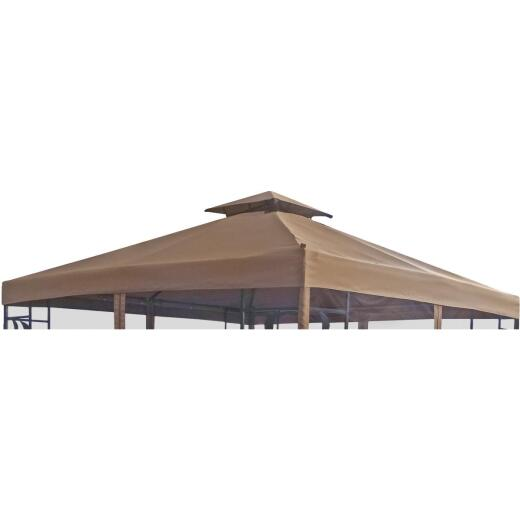 Outdoor Expressions 12 Ft. x 12 Ft. Brown Polyester Replacement Canopy