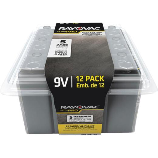 Rayovac UltraPro 9V Alkaline Battery (12-Pack)