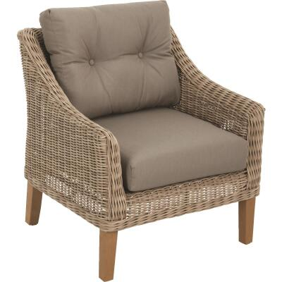 Cambria Brown Wicker Chair with Cushions
