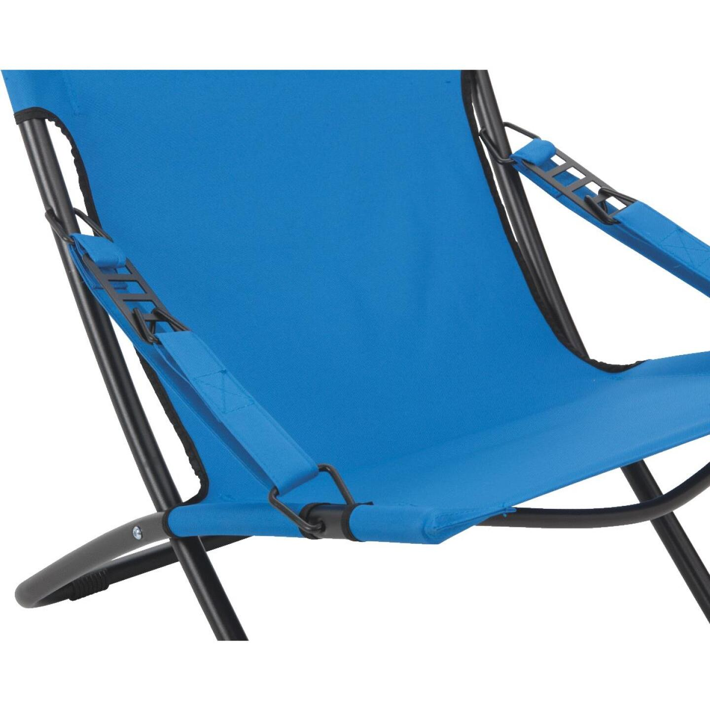 Outdoor Expressions Folding Blue Hammock Chair with Headrest Image 3