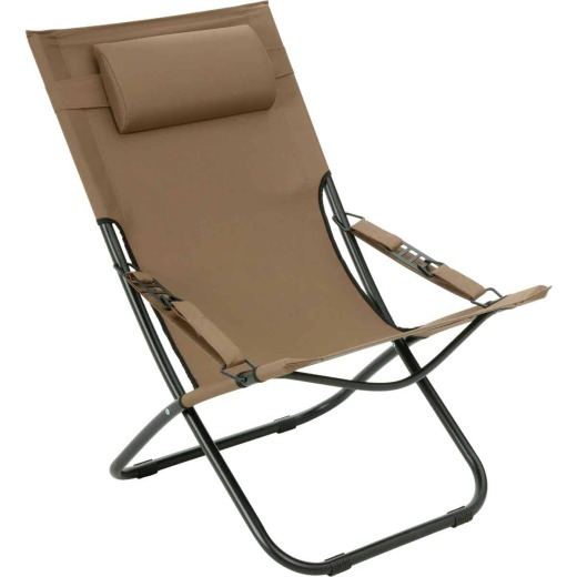 Outdoor Expressions Folding Tan Hammock Chair with Headrest