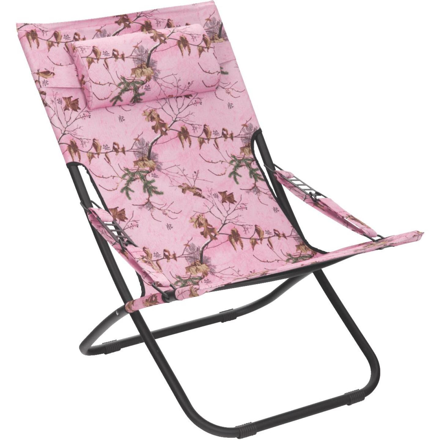 Outdoor Expressions Folding Pink Real Tree Hammock Chair Image 1