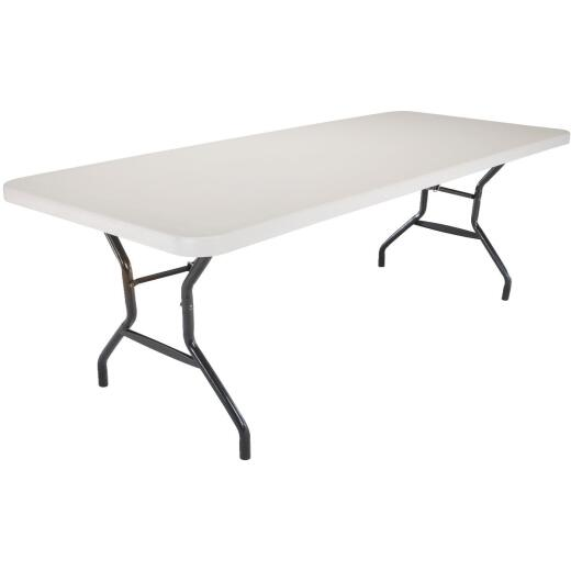 Lifetime 8 Ft. x 30 In. White Granite Commercial Grade Folding Table