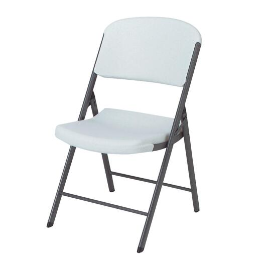 Lifetime Contoured Folding Chair, White