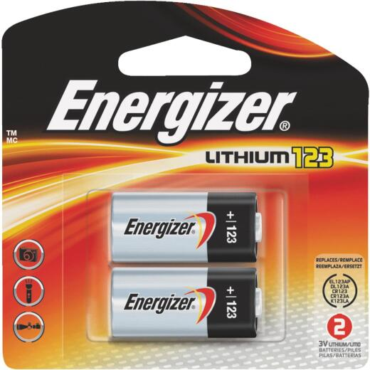 Energizer 123 Lithium Battery (2-Pack)