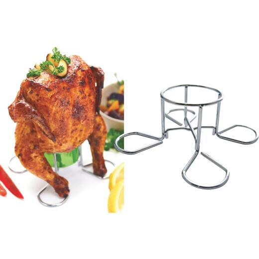 GrillPro Heavy-Duty Chrome Chicken Roaster
