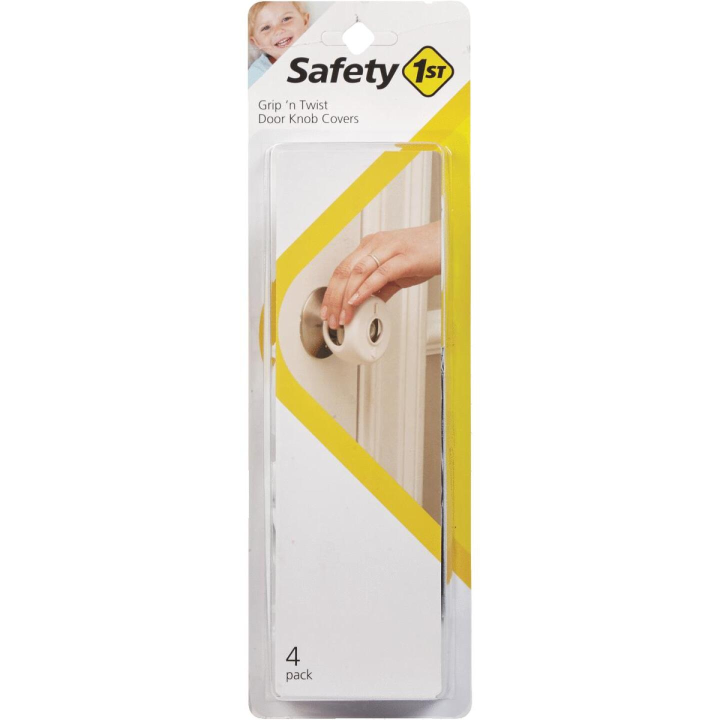 Safety 1st Grip n' Twist Snap-On White Door Knob Cover (4-Pack) Image 1