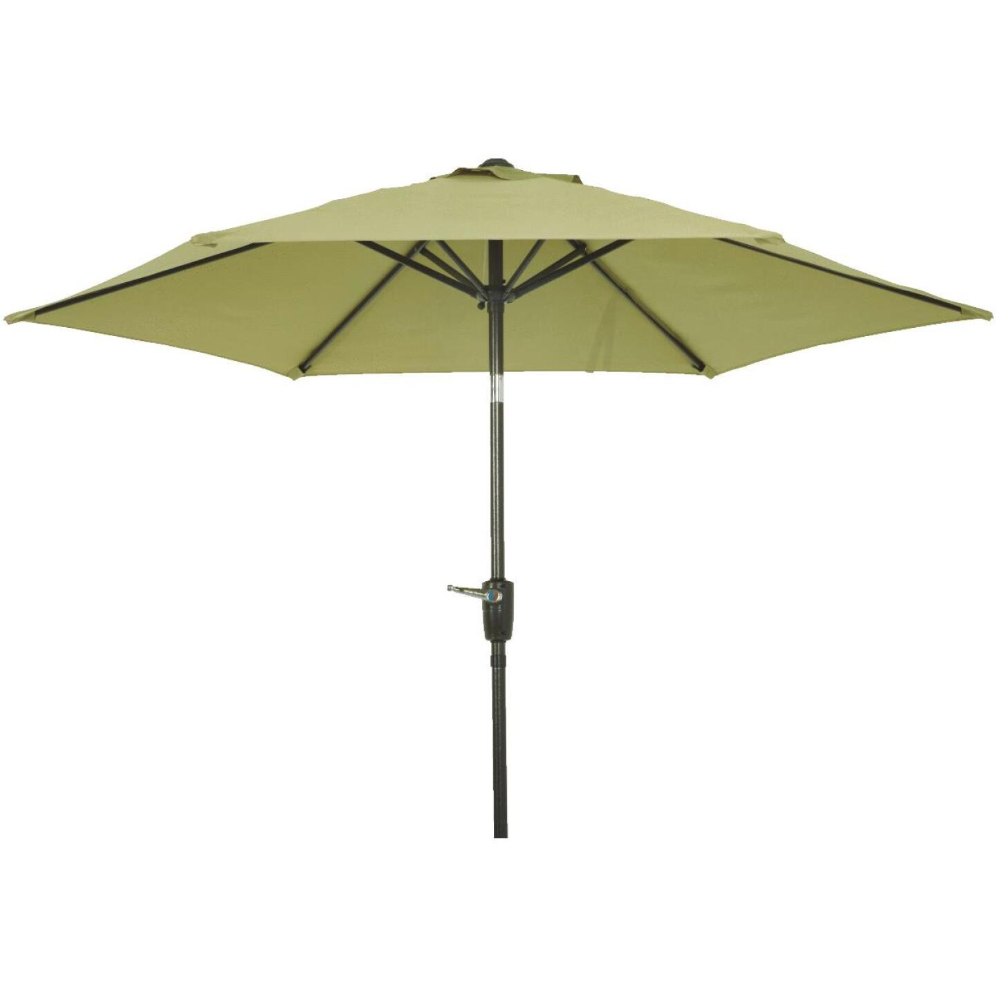 Outdoor Expressions 7.5 Ft. Aluminum Tilt/Crank Sage Patio Umbrella Image 3