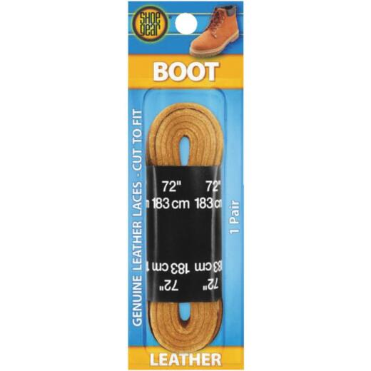 Shoe Gear Leather 72 In. Flat Boot Laces