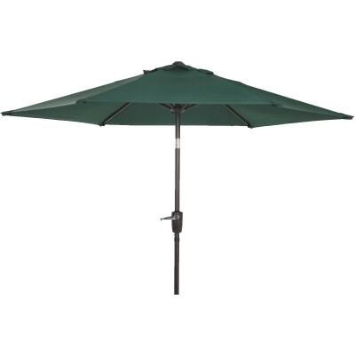Outdoor Expressions 7.5 Ft. Aluminum Tilt/Crank Green Patio Umbrella