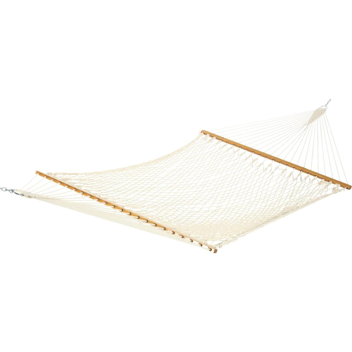 Castaway Deluxe Duracord White Poly Rope Hammock Image 1