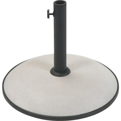 Outdoor Expressions 17 In. Round Tan Concrete Umbrella Base