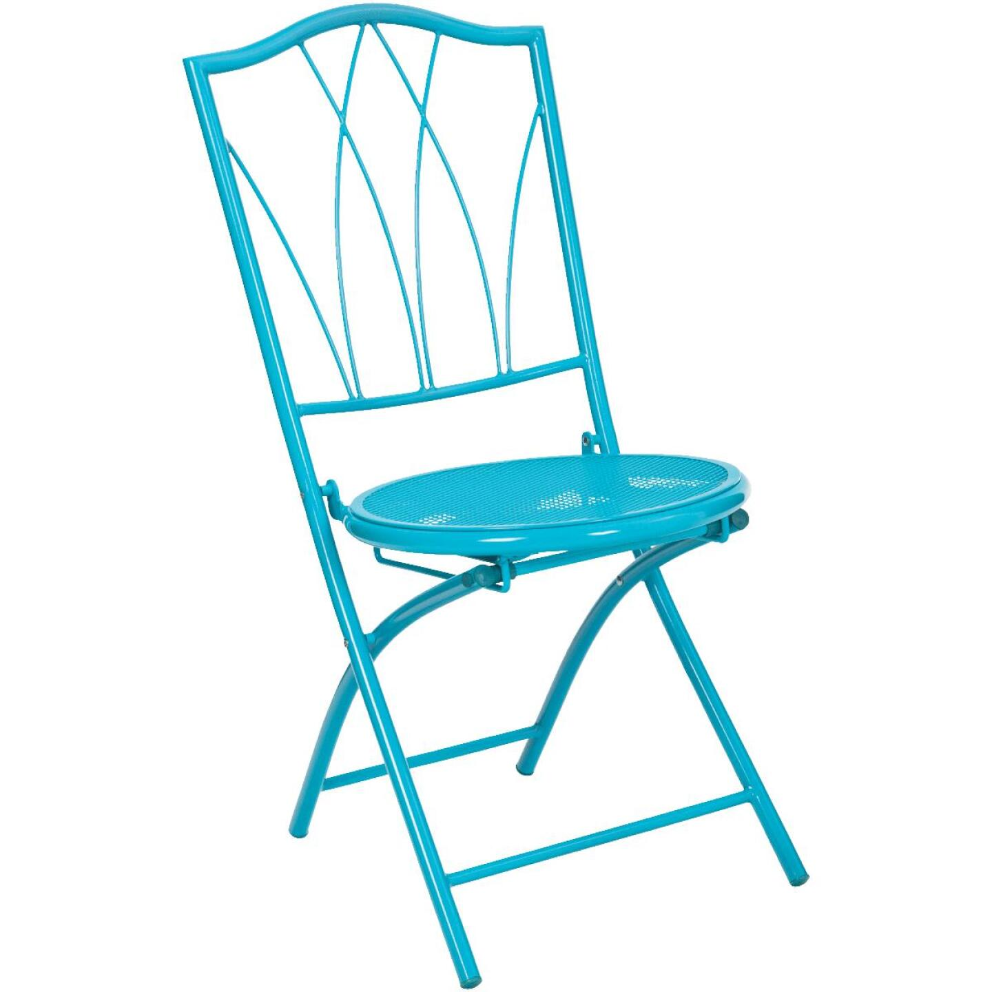 Outdoor Expressions Cruiser 3-Piece Folding Turquoise Bistro Set Image 2