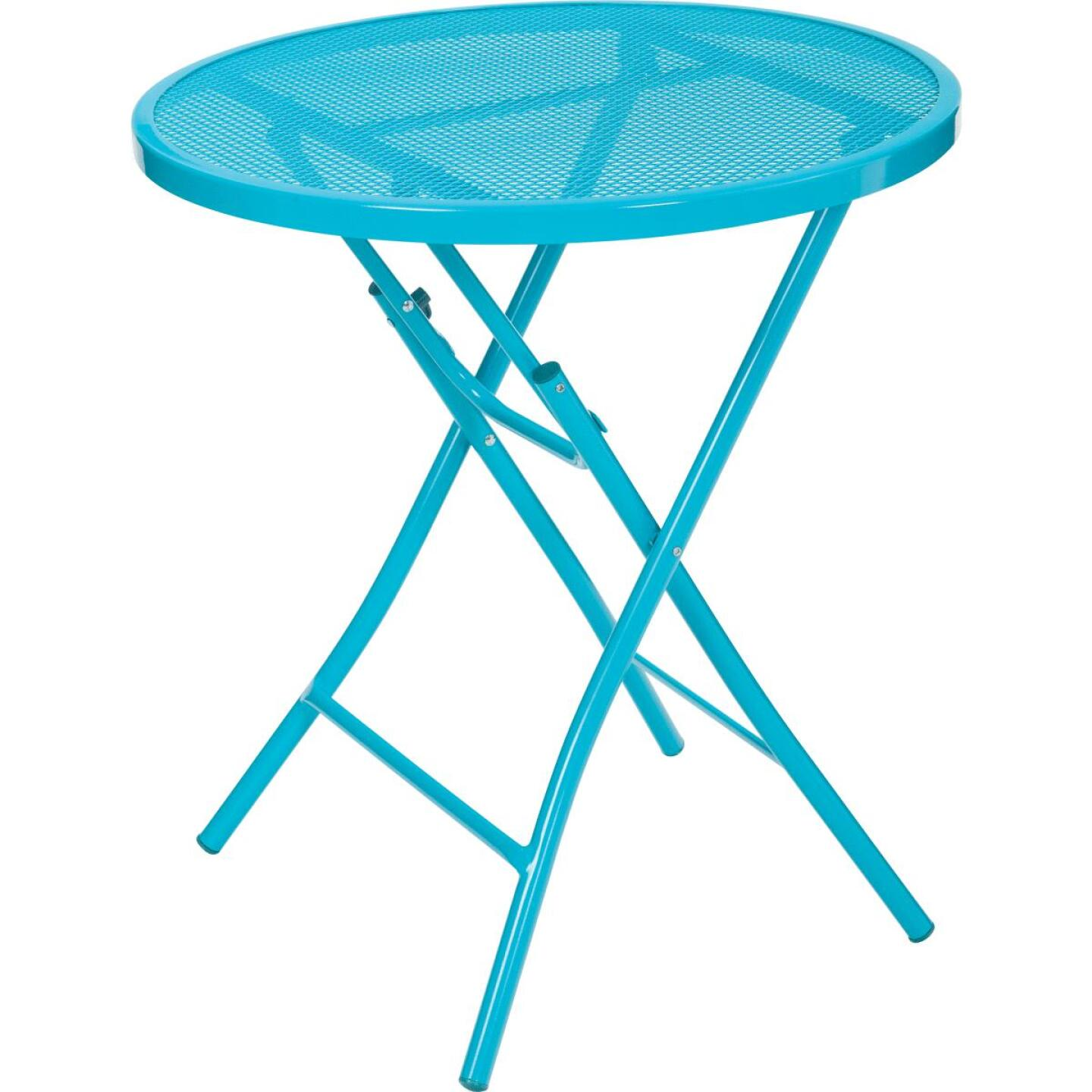 Outdoor Expressions Cruiser 3-Piece Folding Turquoise Bistro Set Image 3
